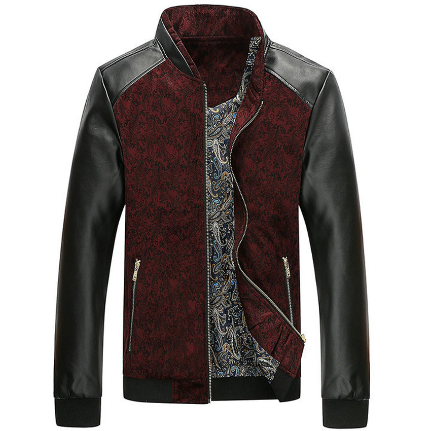 Mountainskin PU Leather PatchworkJacket 3