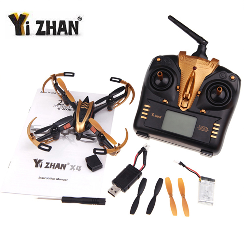 Dwi Dowellin Yizhan X4 Golden RC Drone Quadcopter UFO 3D Flying Remote Control Helicopter RC Quadrocopter with 2.4G Transmitter flying 3d fy x8 018 flying control unit for fy x8 quadcopter
