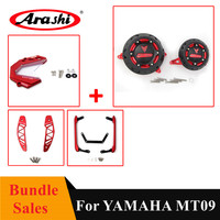Arashi For YAMAHA MT09 2013 2017 Engine Cover Protector + Front Chain Guard + Air Intake Inlet + Rail Tail Seat Handle MT 09