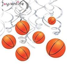 JOY ENLIFE 12pcs Spiral PVC Basketball Children Party Decor