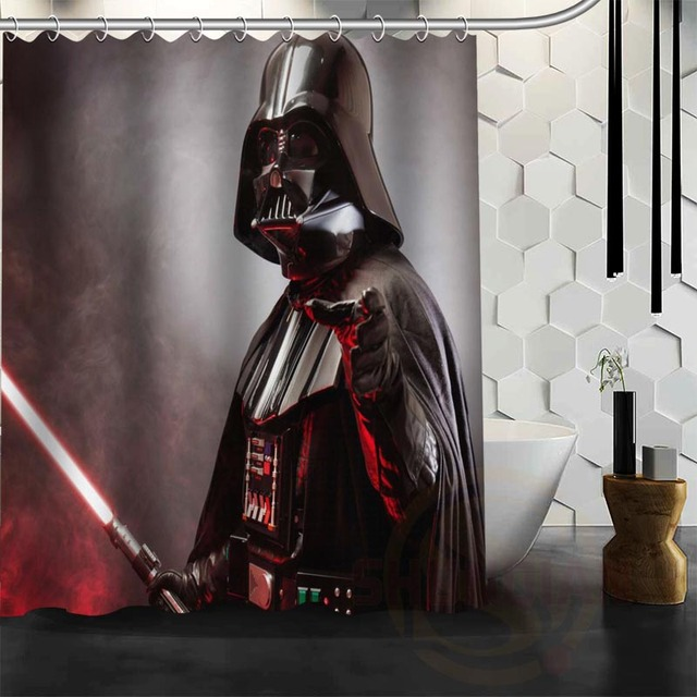 ShunQian Custom Star Wars Shower Curtain Bathroom Decor Waterproof Rogue One A Story
