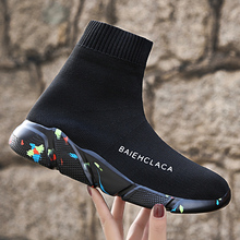 Sport Shoes Large Size46 47 Men Upper Breathable Sport Shoes Sock Boots Woman Chunky Shoes High Top Run Ning Shoes for Men Women li ning women nyfw essence ii basketball culture shoes sock like lining comfort sport shoes sneakers abcm052 xyl178