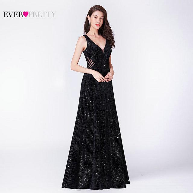 Robe De Soiree küçük Mermaid akşam elbise 2019 hiç güzel EP07439BK zarif Illusion V yaka Backless siyah örgün parti törenlerinde