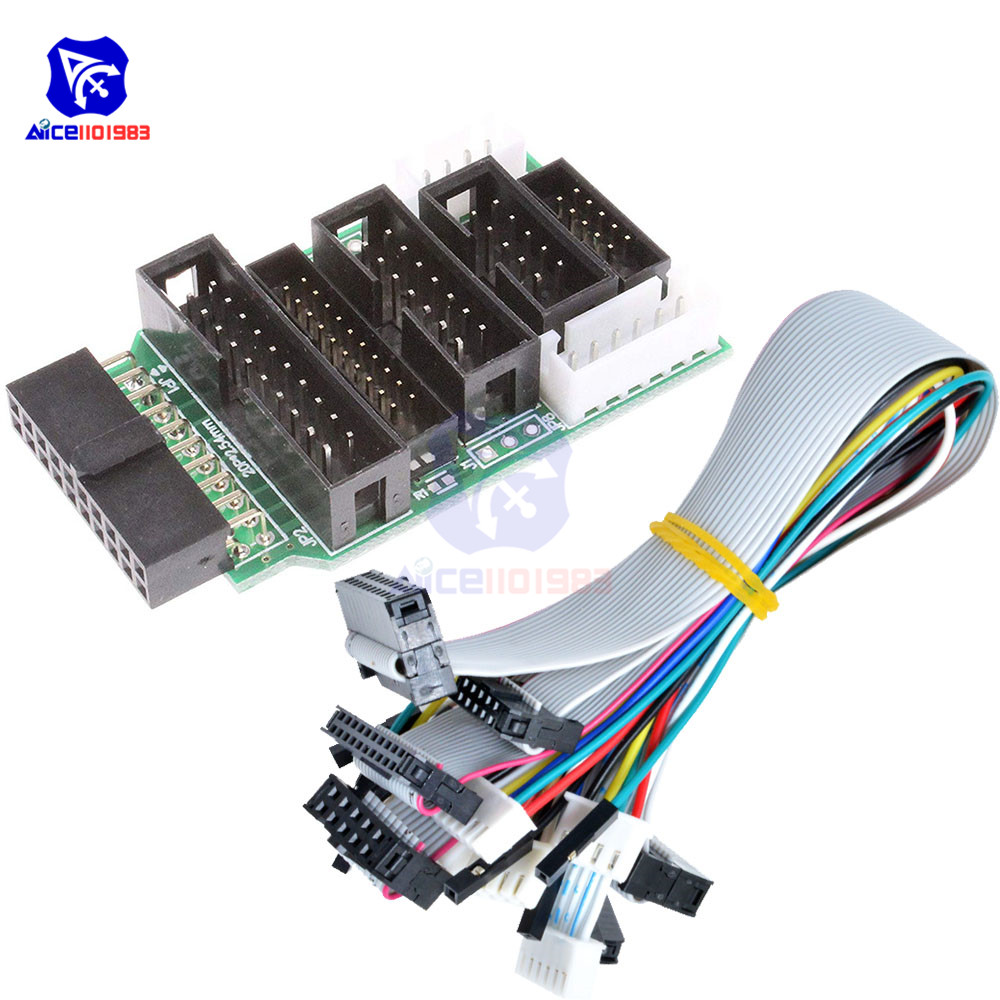 Emulator V8 JTAG Adapter Converter For J-Link With 8PCS 4 Pin 6 Pin 10 Pin 20 Pin Grey Flat Ribbon Data Cable Dupont Wire