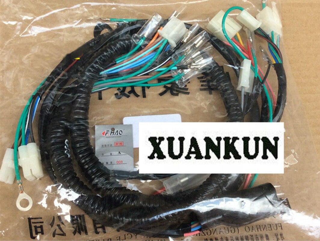CG125 XF125 completa línea del coche sin electricidad para iniciar línea principal cable