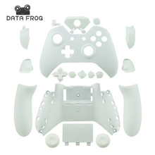 цена на For Microsoft Xbox One Cases Custom Matte White Replacement Housing Shell With Buttons For Wireless Controllers Gaming Gamepad