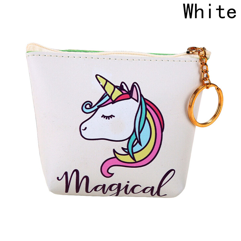 Cute Girl Kids Coin Purses Holder Mini Change Wallets Coin Bag Animal Unicorn Pouch Gift Money Bag Women Children Zipper 2017 new coin purses wallet ladies 3d printing cats dogs animal big face change fashion cute small zipper bag for women pouch