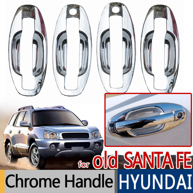 Para Hyundai Santa Fe 2001 2006 Acessórios Cromados Capas Maçaneta Da Porta  Clássico 2002 2003