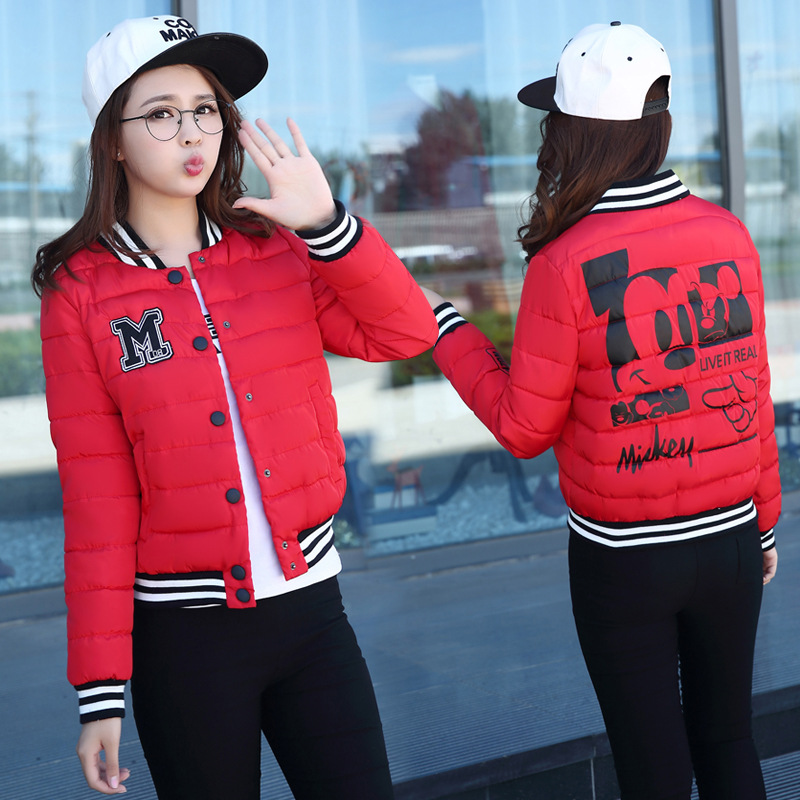 Womens Winter Jackets And Coats 2016 New Parkas Female Women Winter Coat Thickening Cotton Baseball Jacket