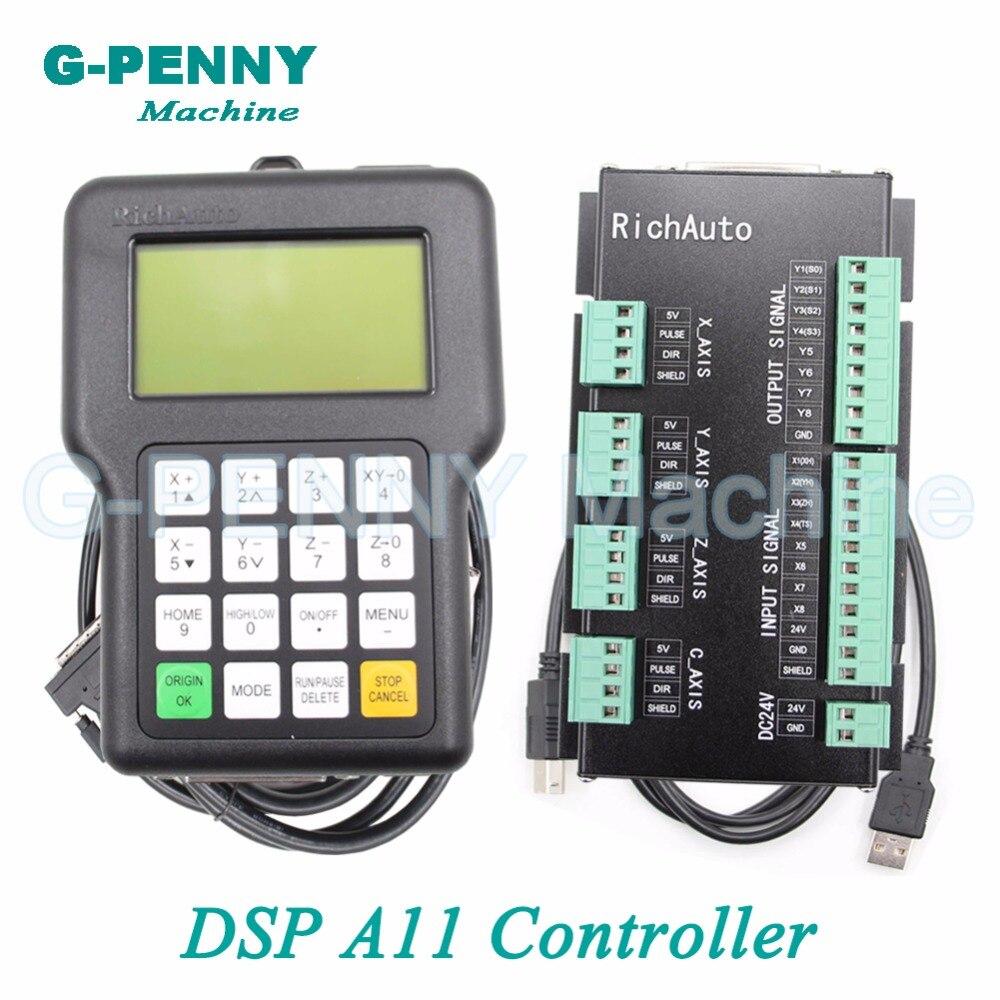 Livraison gratuite! DSP 3 axe Richauto A11 contrôleur CNC sans fil canal pour CNC routeur graveur poignée motion Anglais version