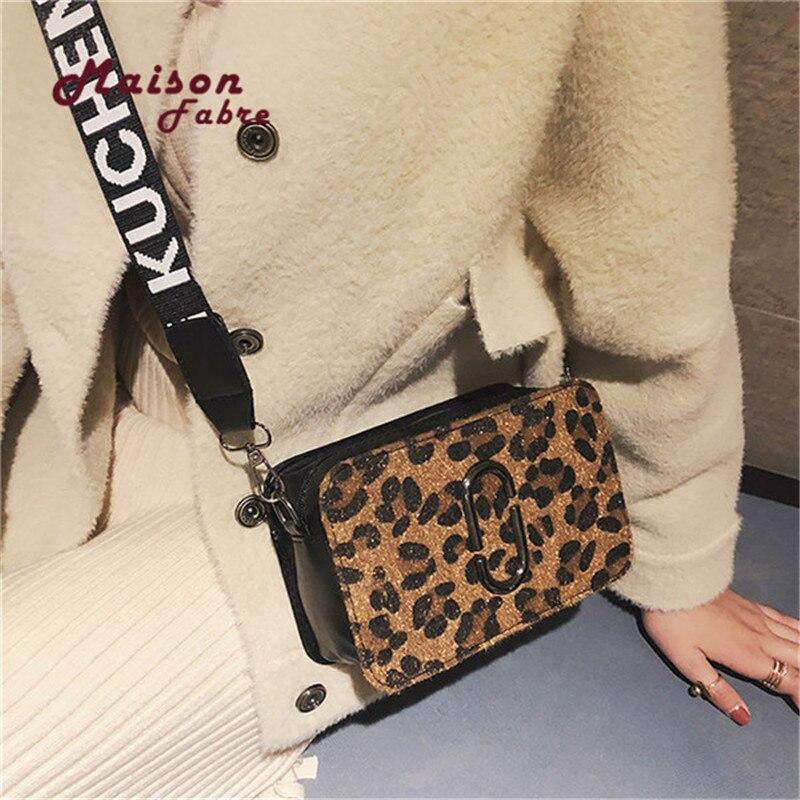 HB@Maison Fabre Bags For Women 2018 Luxury Handbags Women Bags Designer Leopard Black Female PU Leather Crossbody Shoulder Bags