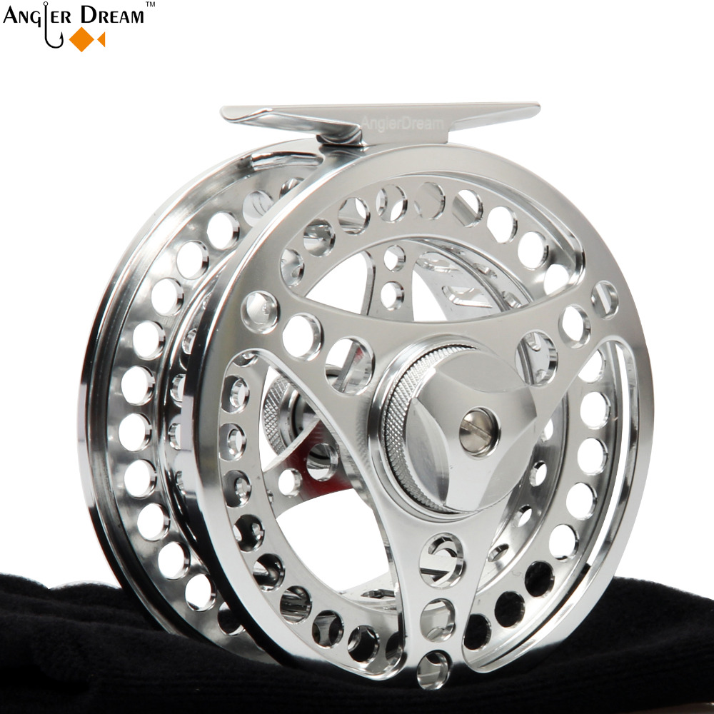 Angler Dream 3/4 5/6 7/8 9/10WT Fly Fishing Reel CNC Machine Aluminum Fishing Reel Large Arbor Aluminum Fly Reel with bag maximumcatch 06n 2 3 4 5 6 7 8wt fly fishing reel cnc machine cut large arbor aluminum silver color fly reel page 8