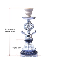 Glass Hookah Set Portable Shisha Pipe with Double Hoses Ceramic Tobacco Flavors Bowl Charcoal Tongs Chicha Narguile Accessories 3