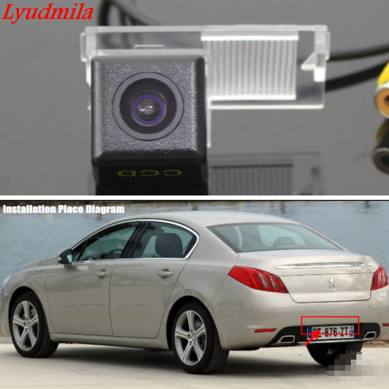 Lyudmila Wireless Camera For Peugeot 408 508 2011~2014 / Car Back up Rear view Camera / HD CCD Night Vision Reverse Camera