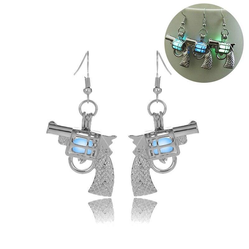 Glowing Gun Ohrringe Glow In The Dark Cowgirl Gypsy Pistole Ohrringe-in Ohrhänger aus Schmuck und Accessoires bei  Gruppe 1