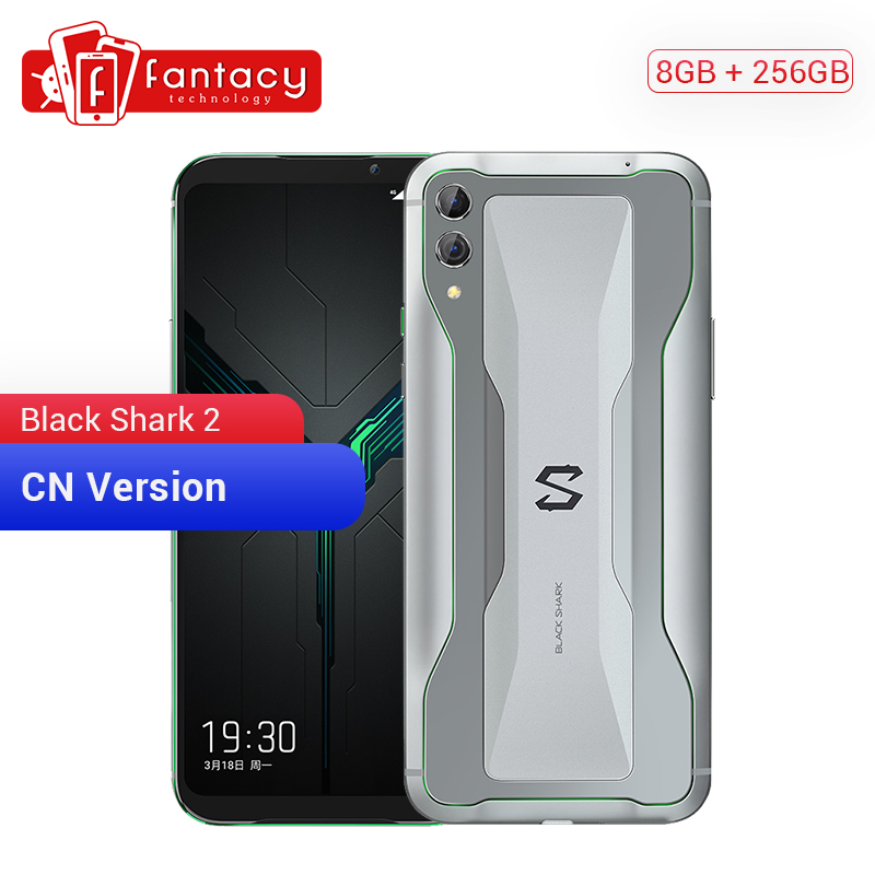 Xiaomi tubarão preto 2 8 gb ram 256 gb rom gaming telefone snapdragon 855 octa núcleo 6.39
