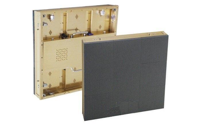 TEEHO 6pcs/lot SMD2121 P4 Indoor Full Color Golden Brushed Rental Aluminum Cabinet Rental Led Display 512mm*512mm Led Videotron