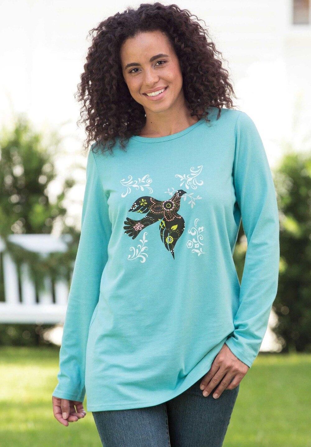 L 10XL Cute Large Size Women Dove Holiday Knit Tunic Long ...