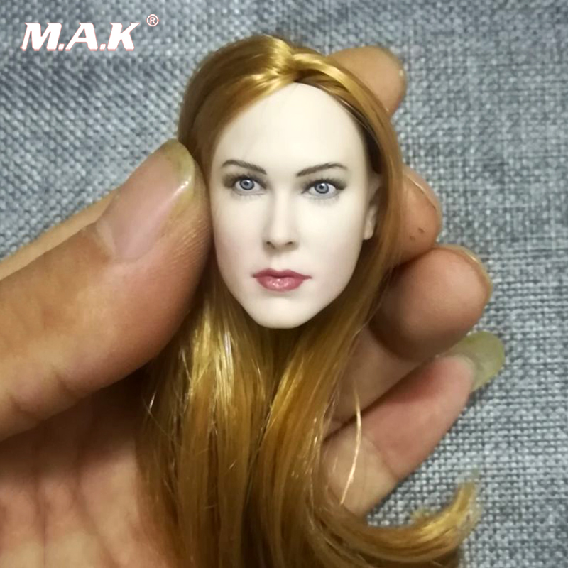 1/6 Pale Golden Hair 1:6 Scale Europe Blond Pale Skin Female Head Sculpt For 12