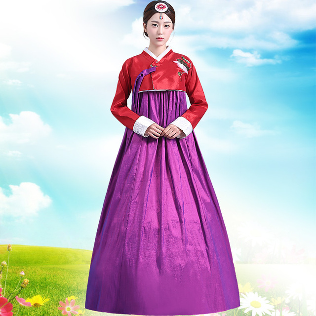 New Arrive Women Hanbok Female Korean Traditional Costume Korea Dress Asian Clothing For Stage