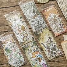 60 шт./лот, винтажная Автомобильная наклейка с бабочкой и бабочкой, посылка, сделай сам, дневник, декоративная наклейка, альбом для скрапбукинга