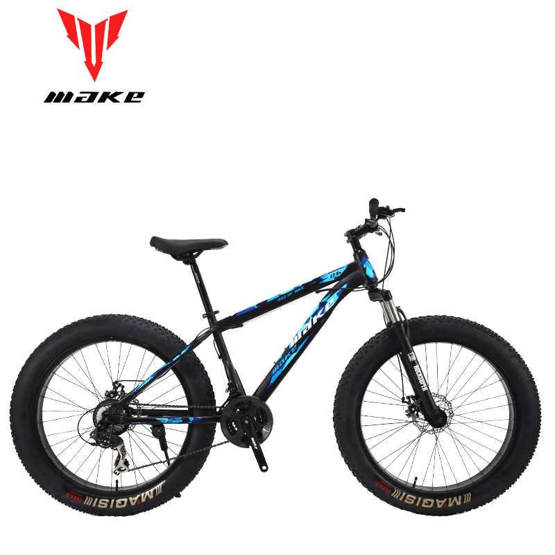 Estructura de acero, rueda Fatbike 26, SHIMANO de 24 velocidades
