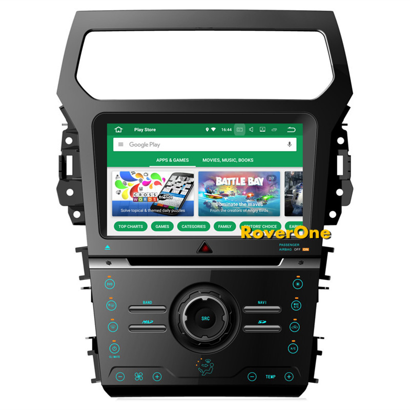 RoverOne Android 8.0 Octa Core Car Radio DVD GPS For Ford Explorer 2012+ Touchscreen Multimedia Player Head Unit Bluetooth