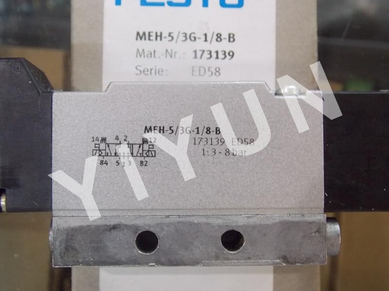 MEH-5/3G-1/8-S-B 173142 MEH-5/3G-1/8-B 173139 MEH-5/2-1/8-P-I-B 173404 FESTO Solenoid valve Pneumatic componentsMEH-5/3G-1/8-S-B 173142 MEH-5/3G-1/8-B 173139 MEH-5/2-1/8-P-I-B 173404 FESTO Solenoid valve Pneumatic components