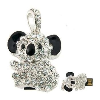 Real Capacity Crystal Animal USB 512GB Flash Drive 64GB Jewelry Kara Necklace 8/16/32GB Memory Card Stick Gift Pendrive 1TB 2TB