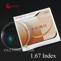 1.67 MingYue Optical Lens Ultrathin 1.665 Index Resin lenses HMC Coating Lens Prescription Glasses Myopia Reading Eyeglass
