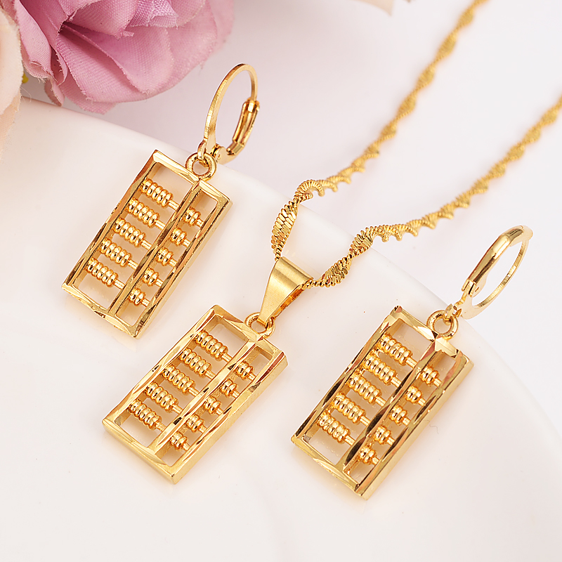 Fashion wedding party Gold plated round charms women lady hook Earring Jewelry