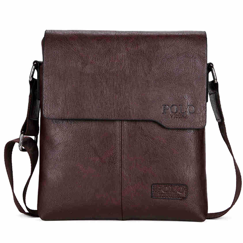 Mens Messenger Bags Fashion Simple Small Shoulder Bag For Men PU Leather Crossbody Bag Business Briefcase Sacoche Homme WBS400