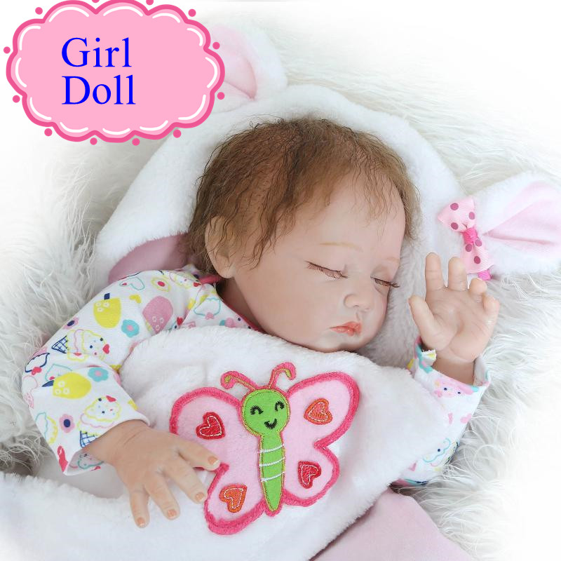 Adora Sleeping Half Silicone Body Reborn Baby Doll About 22inch 55cm Real Touch Reborn Baby Doll Welcome Brinquedos For Children