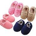2016 New Children Plush Shoes Heel Warm Cute Cartoon Indoor Slippers Slippery Floor Slippers WMC101