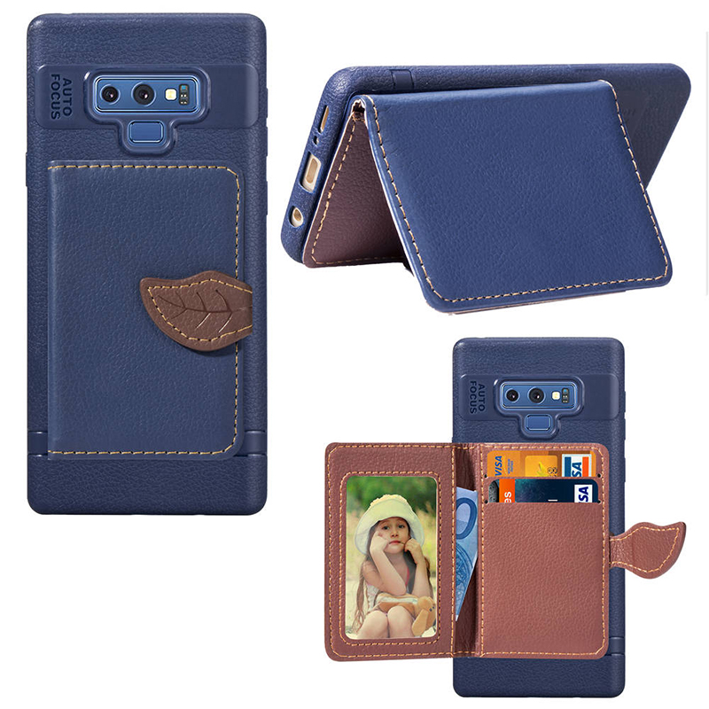 Leaf Buckle Cover For <font><b>Samsung</b></font> Galaxy Note 9 8 S8 S9 plus <font><b>S7</b></font> <font><b>edge</b></font> PU Leather <font><b>Wallet</b></font> <font><b>Case</b></font> For <font><b>Samsung</b></font> A8 A7 A5 2018 A6 plus <font><b>Cases</b></font> image