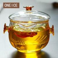 Czarna Herbata Szkła zdobądź Er Jin Pot Kung Fu Czajniczek Ręcznie Chwytając