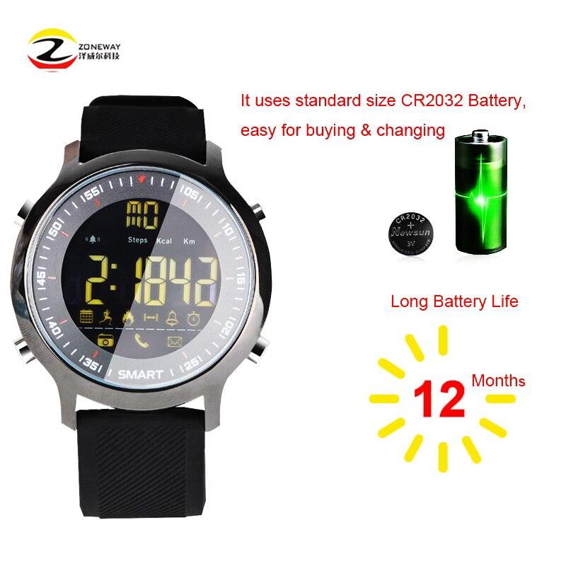 EX18 Սմարթ ժամացույց Անջրանցիկ IP68 5ATM Արտաքին լող մարզական սմարթֆոն Passometer Հաղորդագրությունների հիշեցում Ուլտրա երկար սպասման pk Xwatch