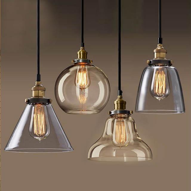 Us 17 16 74 Off Hanglamp Pendant Lamp Copper Gl Restaurant Lights Vintage Lighting Fixtures Suspension Luminaire Antique Lamps In