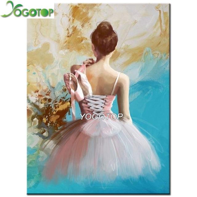 Yogotop Diy Алмазная картина вышивка крестиком балерина девушка Рукоделие 5D алмазная вышивка полная Алмазная декоративная мозаика VD070