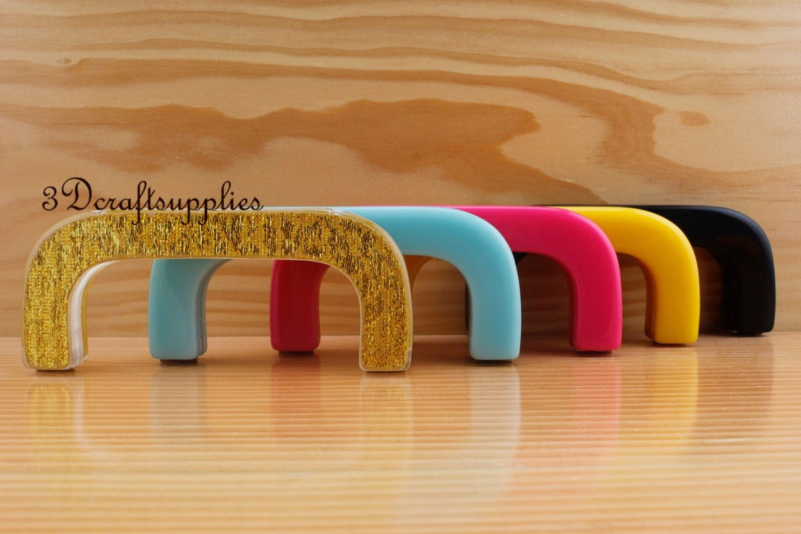 Purse frame 5 inch x 2 inch ( 12.5 cm x 5 cm ) Acrylic Resin 5 colors to choose