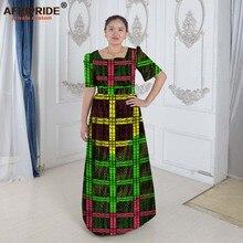 שמלות אפריקאיות נשים אפריקאי בגדים אלגנטי נסיכת סגנון הדפסת כותנה רצפת אורך פרטי מותאם אישית בתוספת גודל waxA622508