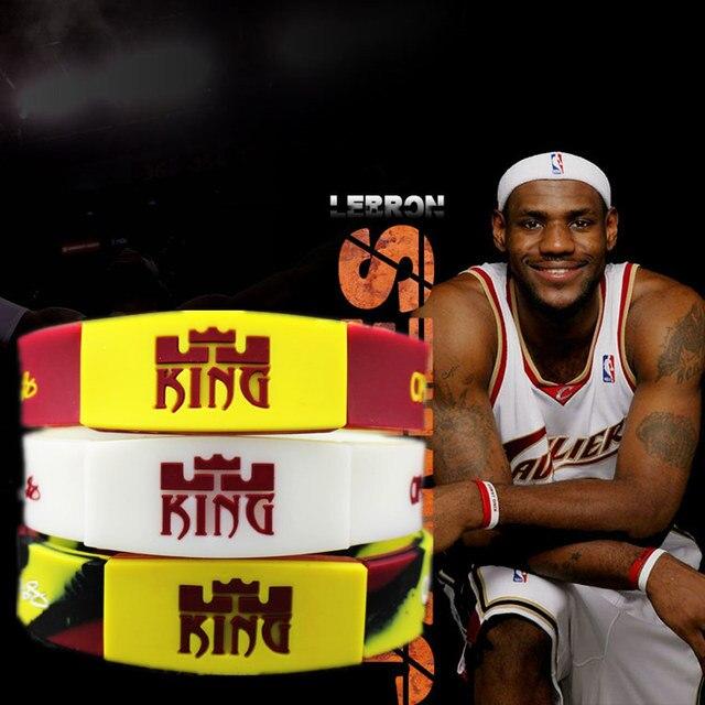 3 Colors Caverlier Lebron James Luminous Bracelet Sport Silicone Bracelets Basketball Silicon Bileklik Fashion Wristband