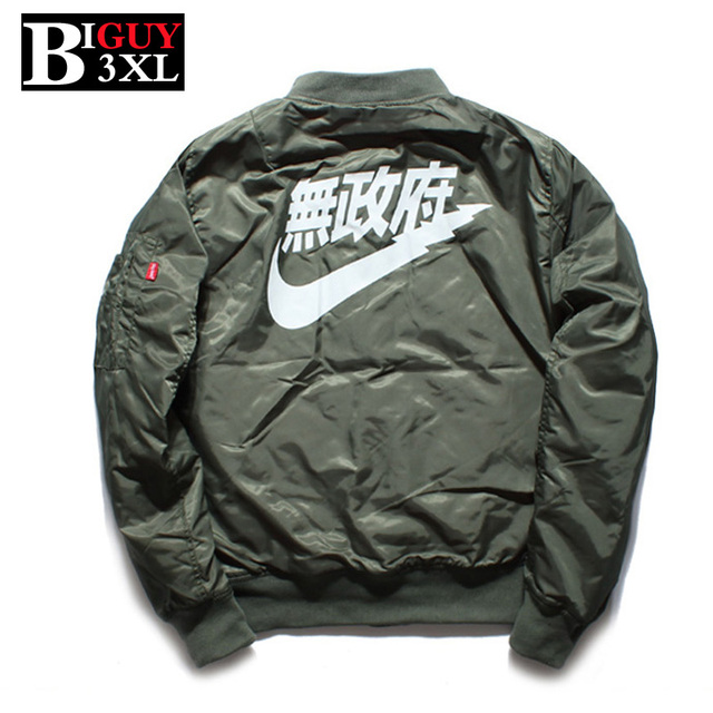 Ma1 Black Green Mens Bomber Jacket 2016 Spring Autumn Thick Cotton Padded Pilot Men Army Jackets And Coats 386-jacket