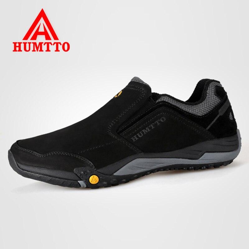 Humtto Для мужчин Треккинговые ботинки Пояса из натуральной кожи восхождение Обувь открытый Slip-On треккинг спортивная обувь для Для мужчин При...