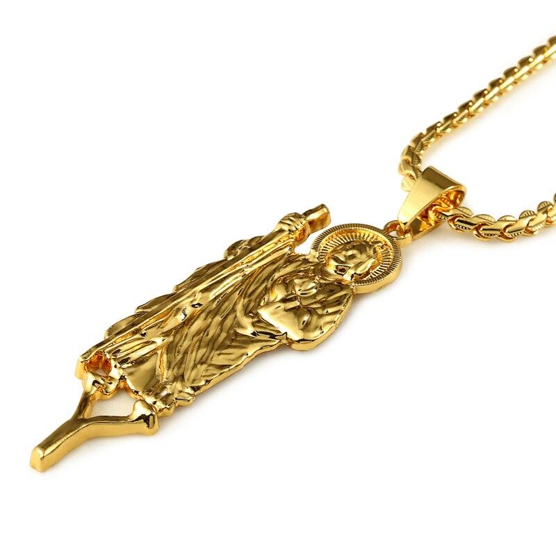 Hip Hop Jesus Piece Chain Necklace Gold Color Micro Jesus Pendant ...