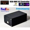 Freeshipping Controlador de Iluminação de Palco DMX512 HD512 Perder A Função de Interface USB Fonte De Alimentação Dupla Martin/Software WIN10 Avolites