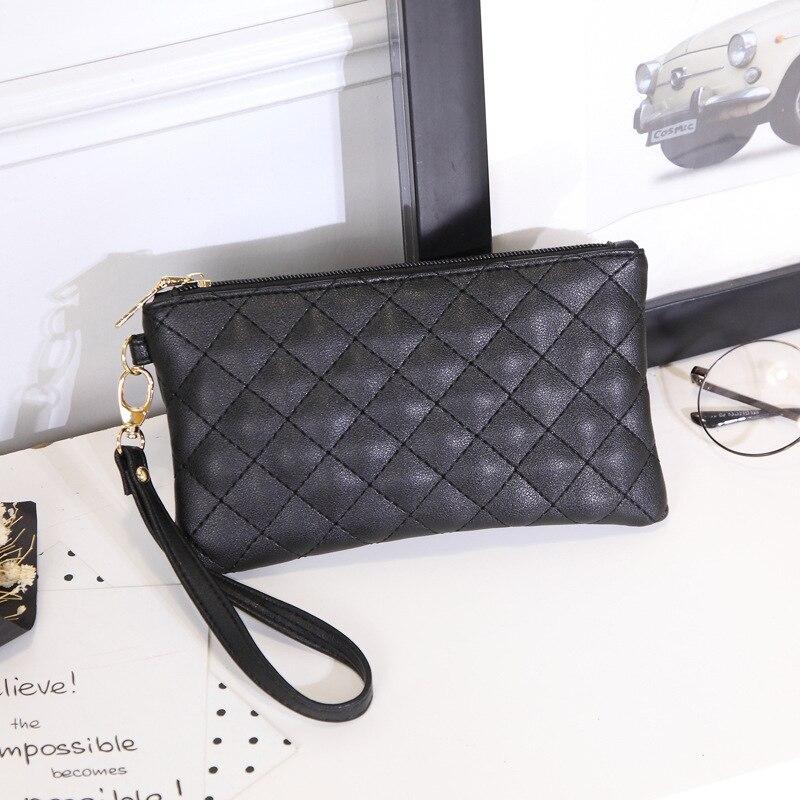 2018 ladies boutique zipper wallet fashion European and American style pattern student thin change mobile phone bag ljj 0708