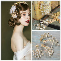1Pair Luxury Pearl Hair Clips Handmade Retro Wedding Bridal Hair Jewelry Girls Party Prom Hairgrips Photography