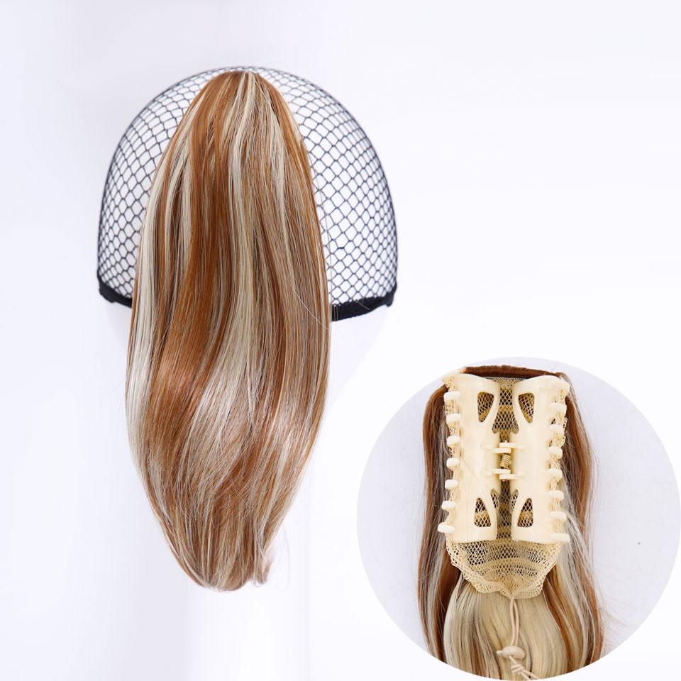 SHANGKE Hair 6 '' Short Hästsvans Naturlig Svart Klaw Drawstring - Syntetiskt hår - Foto 5