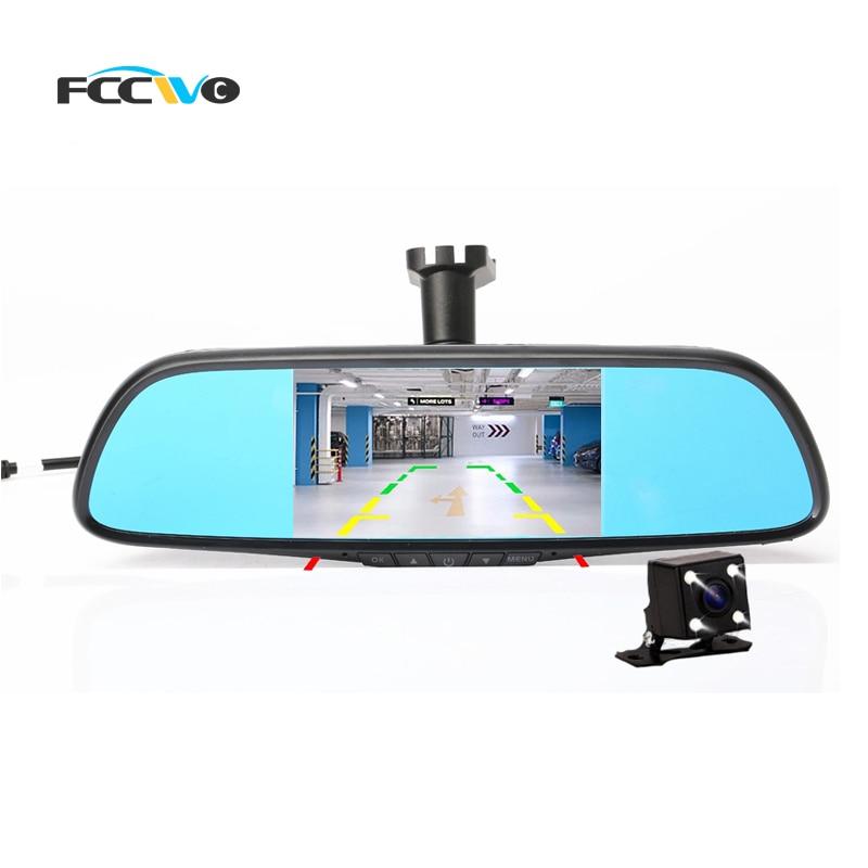 """imágenes para FCCWO Q5 5 """"Dedicado Coche DVR Espejo Retrovisor NT96658 AR0330 dual lente Registrator Rociada Leva de la Cámara Grabadora de Vídeo DVR"""